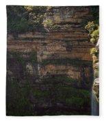 Blue Mountains Waterfall Fleece Blanket