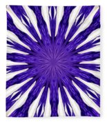 Blue Orchid Sunburst Kaleidoscope Fleece Blanket