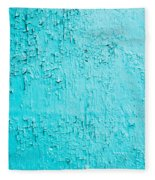 Blue Paint Background Grungy Cracked And Chipping Fleece Blanket