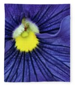 Blue Pansy Fleece Blanket