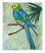 Blue Parakeet Fleece Blanket