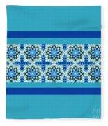 Blue Patchwork 2 Fleece Blanket