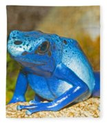 Blue Poison Dart Frog Fleece Blanket