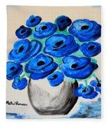 Blue Poppies Fleece Blanket