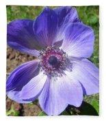Blue Poppy Anemone Fleece Blanket