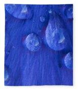 Blue Rain Fleece Blanket