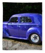 Blue Restored Willy Car Fleece Blanket