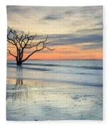 Blue Reverence Charleston Sc Ocean Sunrise Fleece Blanket