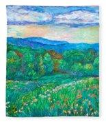 Blue Ridge Meadow Fleece Blanket