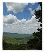 Blue Ridge Mountain Scenic - Craig County Va IIi Fleece Blanket