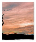 Blue Ridge Mountain Sunrise Panoramic  Fleece Blanket