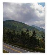 Blue Ridge Mountains And Blue Ridge Parkway Fleece Blanket