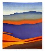 Blue Ridge Mountains East Fall Art Abstract Fleece Blanket