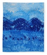 Blue Ridge Original Painting Fleece Blanket