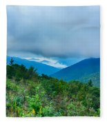 Blue Ridge Parkway National Park Sunrise Scenic Mountains Summer Fleece Blanket