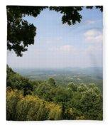 Blue Ridge Parkway Scenic View Fleece Blanket