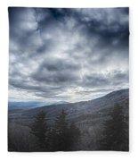 Blue Ridge Parkway Winter Scenes In February Fleece Blanket