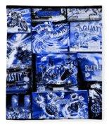 Blue Rush Fleece Blanket