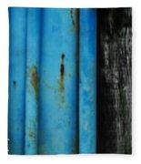 Blue Rusty Farm Gate Fleece Blanket