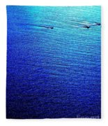 Blue Sand Abstract Fleece Blanket