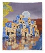 Blue Serpent Pueblo Fleece Blanket