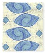 Blue Shells Fleece Blanket