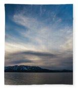 Blue Silk Fleece Blanket