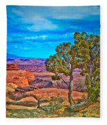 Blue Skies And Canyons Fleece Blanket