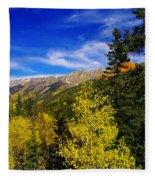 Blue Skies In Colorado Fleece Blanket