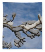 Blue Skies In Winter Fleece Blanket