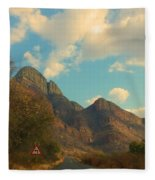 Blue Sky And Mountains Fleece Blanket