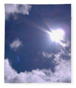 Blue Sky Clouds And Sunshine Fleece Blanket