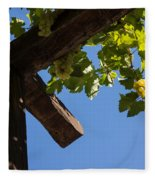 Blue Sky Grape Harvest - Thinking Of Fine Wine Fleece Blanket
