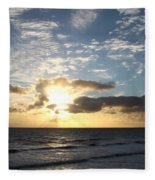Blue Sky Sunrise Fleece Blanket