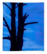 Blue Sky Tree Fleece Blanket