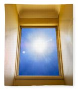 Blue Sky Window Fleece Blanket