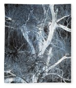 Blue Snow Fleece Blanket