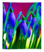 Blue Snowdrops Fleece Blanket