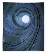 Blue Spiral Staircaise Fleece Blanket