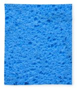 Blue Sponge Texture Fleece Blanket