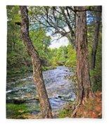 Blue Spring Branch 2 Fleece Blanket
