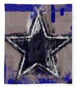 Blue Star Abstract Fleece Blanket