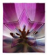 Blue Star Tulip Design Fleece Blanket