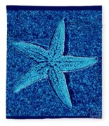 Blue Starfish - Digital Art Fleece Blanket