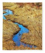Blue Stream Fleece Blanket