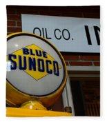 Blue Sunoco Globe Fleece Blanket