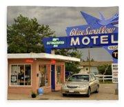 Blue Swallow Motel Fleece Blanket