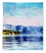 Blue Tahoe Fleece Blanket
