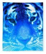 Blue Tiger Fleece Blanket