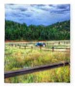 Blue Tractor Deckers Colorado Fleece Blanket